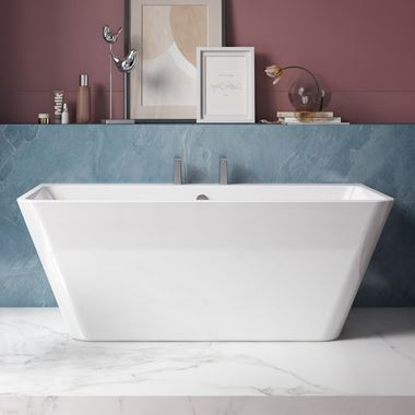 Charlotte Edwards Eris White Back to Wall Bath - 1500 x 750mm