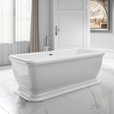 Charlotte Edwards Henley White Freestanding Bath - 1730 x 790mm
