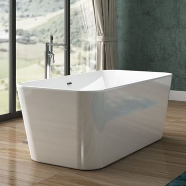 Charlotte Edwards Leda White Freestanding Bath - 1500 x 780mm