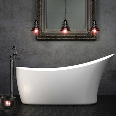 Charlotte Edwards Portobello White Freestanding Bath - 1590 x 680mm