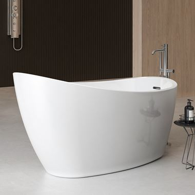 Charlotte Edwards Proteus White Freestanding Bath - 1550 x 780mm