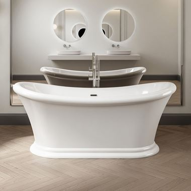 Charlotte Edwards Purley White Freestanding Bath - 1700 x 740mm