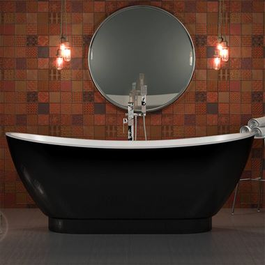 Charlotte Edwards Richmond Black Free Standing Bath - 1760 x 680mm