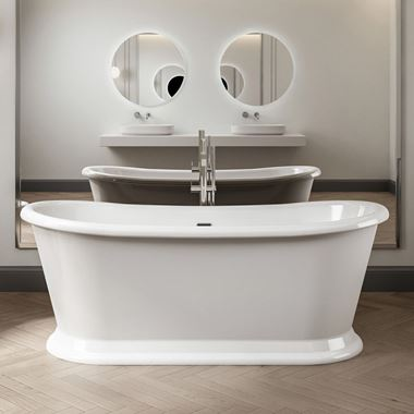 Charlotte Edwards Rosemary White Freestanding Bath - 1710 x 720mm