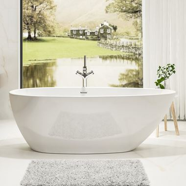 Charlotte Edwards Ruby White Freestanding Bath - 1690 x 780mm