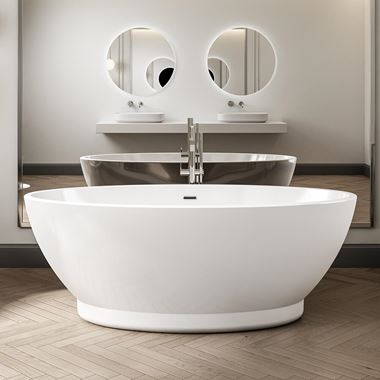 Charlotte Edwards Shard Freestanding Bath - 1685 x 785mm
