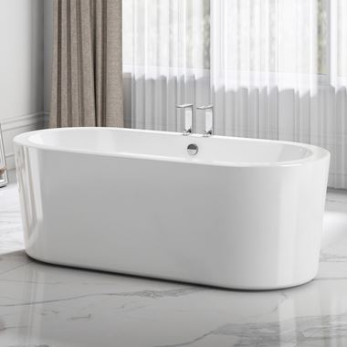 Charlotte Edwards Strand White Freestanding Bath - 1490, 1675 & 1765mm