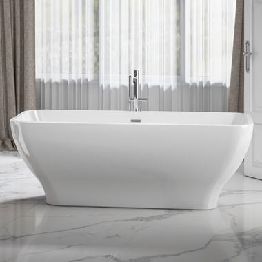 Charlotte Edwards Thebe White Freestanding Bath - 1700 x 750mm