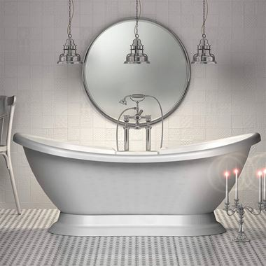 Charlotte Edwards Trafalgar White Freestanding Bath - 1700 x 720mm