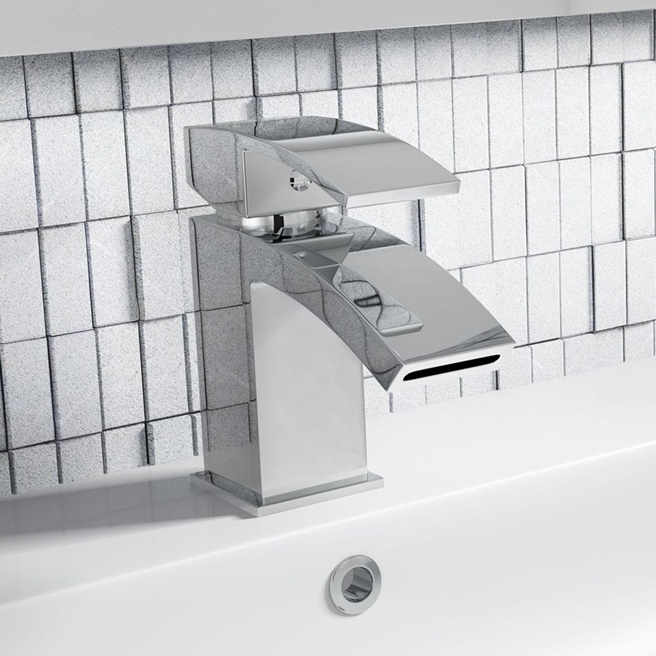 Vellamo City Waterfall Basin Mixer Tap & Waste