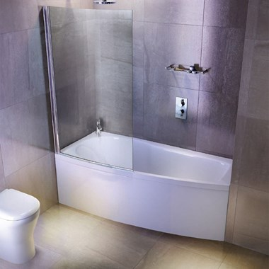 Cleargreen EcoCurve Showering Bath in Left or Right Hand - 1700 x 750mm