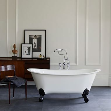 Clearwater Batello ClearStone Roll Top Bath with Claw Feet - 1690 x 800mm