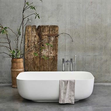 Clearwater Duo ClearStone Freestanding Bath - 1550 x 950mm