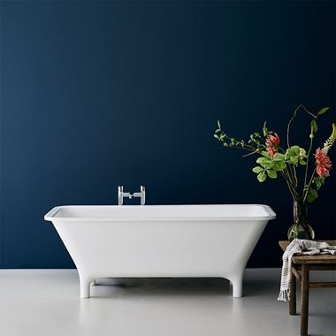 Clearwater Lonio Natural Stone Roll Top Bath - 1700 x 750mm