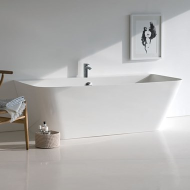 Clearwater Patinato ClearStone Back to Wall Bath - 1524 & 1690 x 800mm