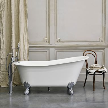 Clearwater Romano Grande ClearStone Roll Top Bath with Claw Feet - 1690 x 750mm