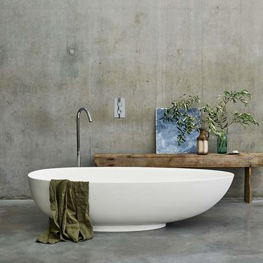 Clearwater Teardrop ClearStone Freestanding Bath - 1690 & 1910 x 820mm