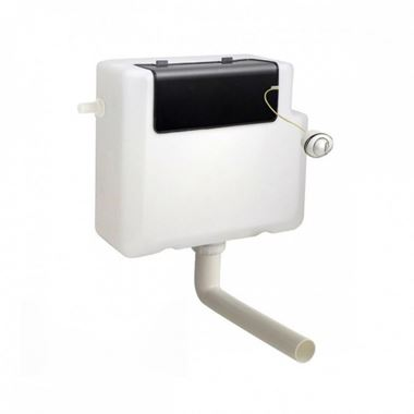 Vellamo Universal Dual Flush Concealed Cistern & Round Button