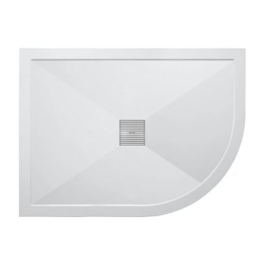Crosswater 25mm Offset Quadrant Stone Resin Shower Tray & Waste