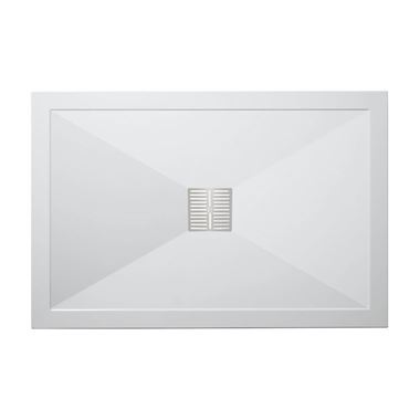 Crosswater 25mm Rectangular Stone Resin Shower Tray & Waste - 900x1000mm