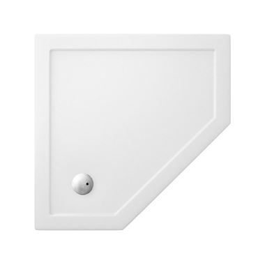 Crosswater 35mm Acrylic Pentagon Shower Tray - 900 x 900mm