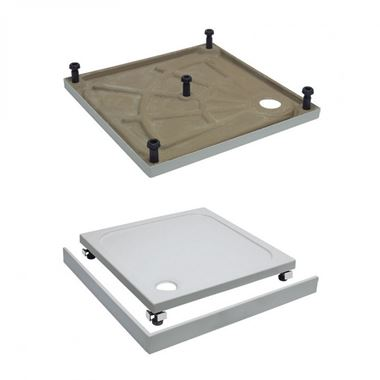 Crosswater 45mm Rectangular Shower Tray Leg & Panel Riser Kit - 1685 x 900mm