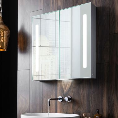 Crosswater Allure Double Door Bathroom Cabinet - 700 x 700mm