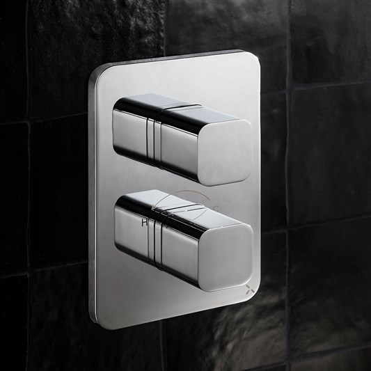 Crosswater Atoll Thermostatic 3 Outlet Shower Valve - Crossbox Technology