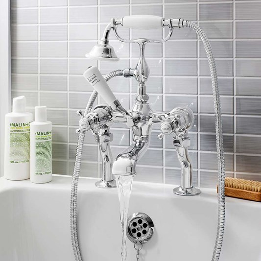 Crosswater Belgravia Crosshead Bath and Shower Mixer with Shower Kit