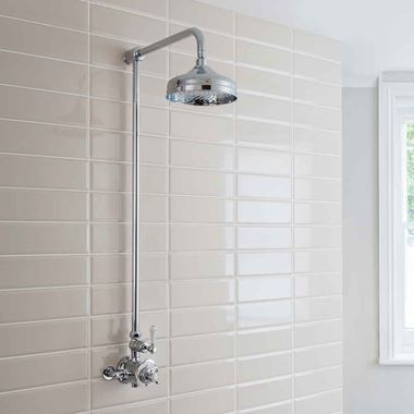 Crosswater Belgravia Exposed Thermostatic Shower Valve with Fixed Shower Head
