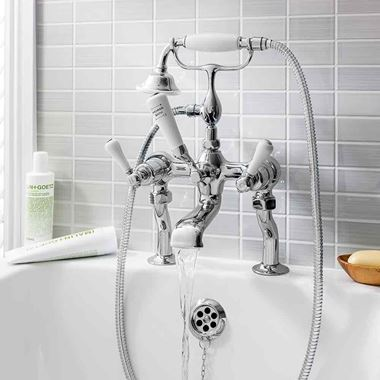 Crosswater Belgravia Lever Bath Shower Mixer with Shower Kit