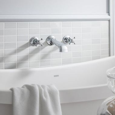 Crosswater Belgravia Wall Mounted Bath Spout with Crosshead Valves