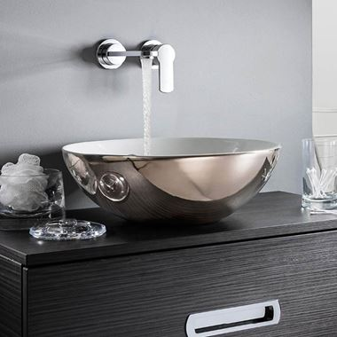 Crosswater Castellon Plus Platinum Ceramic Countertop Basin