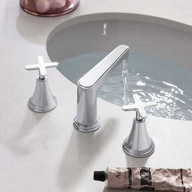Crosswater Celeste 3 Hole Crosshead Basin Mixer