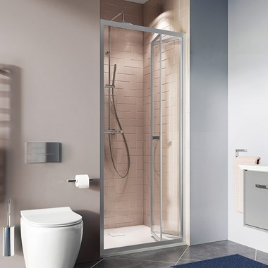 Crosswater Clear 6 6mm Bi-Fold Shower Door & Optional Side Panel