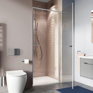 Crosswater Clear 6 6mm Hinged Shower Door & Optional Side Panel