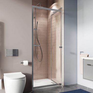 Crosswater Clear 6 6mm Infold Shower Door & Optional Side Panel