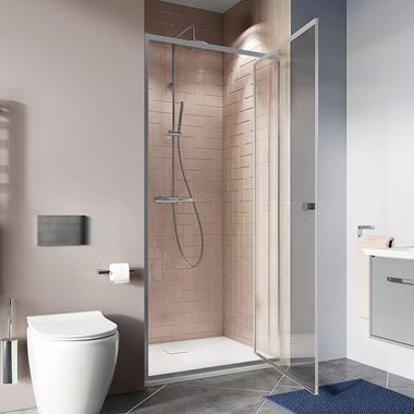 Crosswater Clear 6 6mm Pivot Shower Door & Optional Side Panel