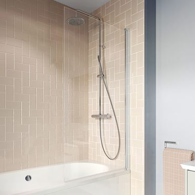 Crosswater Clear 6 6mm Easy Clean Single Hinged Bath Screen - 1500 x 800mm