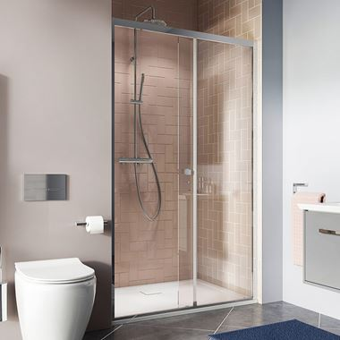 Crosswater Clear 6 6mm Single Sliding Shower Door & Optional Side Panel