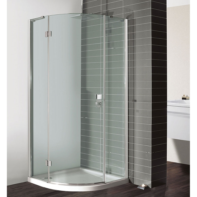 Crosswater Design Single Door Hinged Quadrant Shower Enclosure
