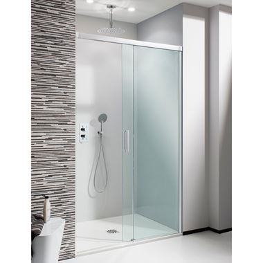 Crosswater Design Soft Close Sliding 1700mm Shower Door & 1000mm Side Panel