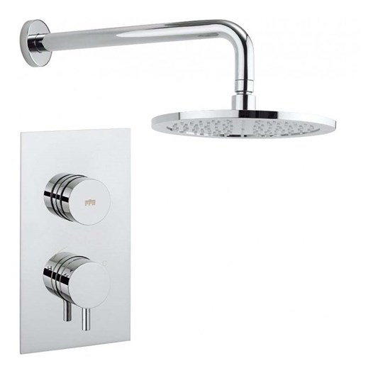 Crosswater Dial Kai Lever Concealed Thermostatic 1 Outlet Shower Valve with Fixed Shower Head