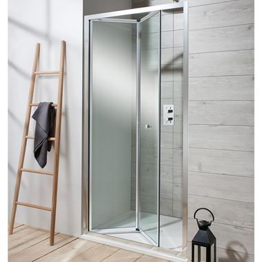 Crosswater Edge 6mm Bi-Fold Shower Door & Optional Side Panel