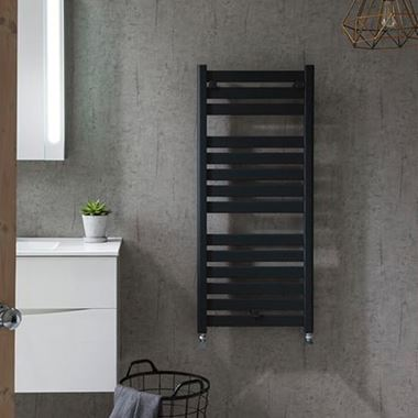 Crosswater Edge Anthracite Flat Panel Heated Towel Rail