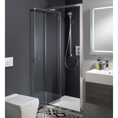 Crosswater Edge Infold Shower Door & Optional Side Panel