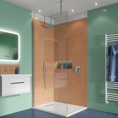 Crosswater Gallery 10 Walk In Shower Enclosure 10mm Panels with Multiple Configurations - Polished Stainless Steel