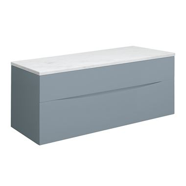 Crosswater Glide II 100 Wall Mounted Blue Smoke Matt Unit & Marble Worktop