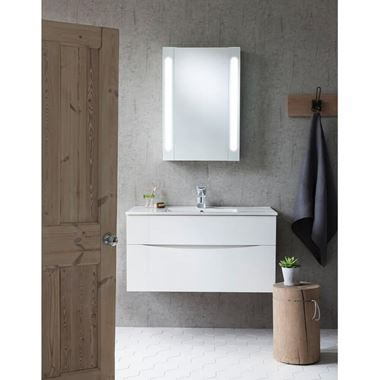 Crosswater Glide II 100 Wall Hung Vanity Unit with Basin