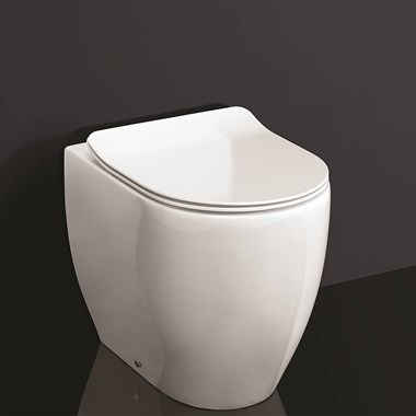 Crosswater Glide II Back to Wall Rimless Gloss White Toilet & Soft Close Seat - 510mm Projection